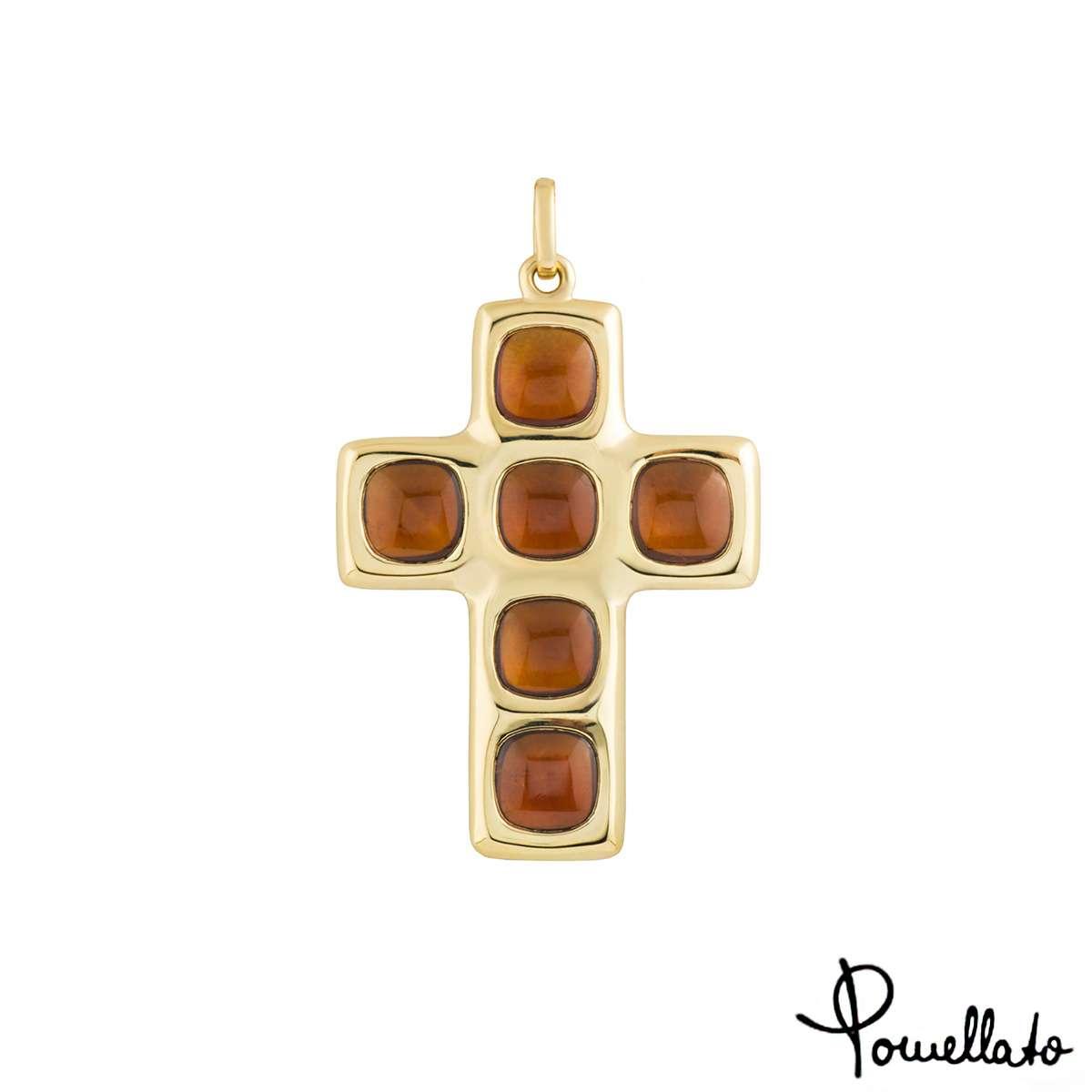Pomellato Citrine Cross Pendant